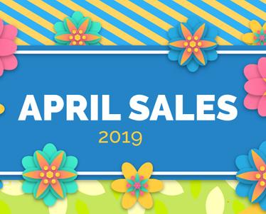 Balandžio mėnesio išpardavimai 2019
