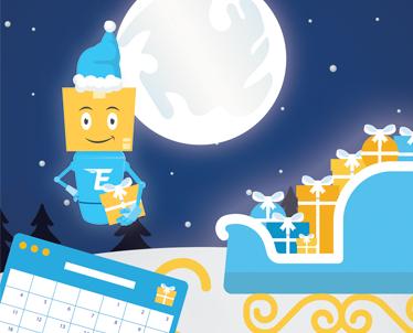 Šventinės dienos ir Kalėdų pristatymo tvarkaraštis